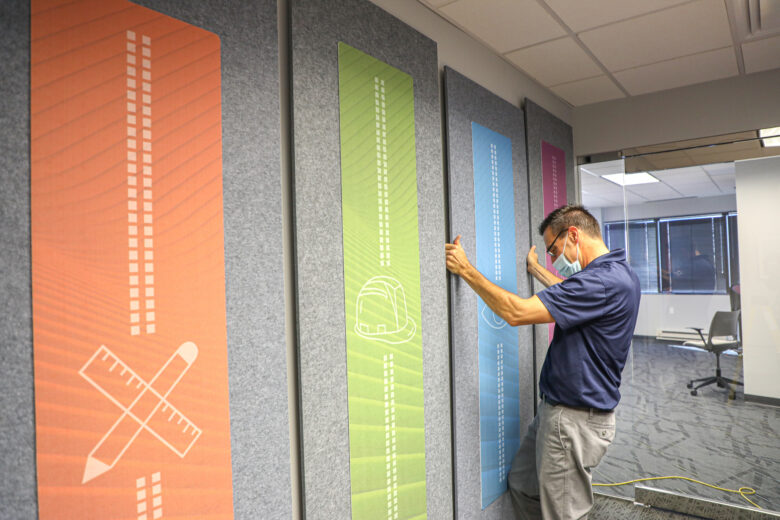 Acoustic Panels for NewGround St. Louis by 12-Point SignWorks
