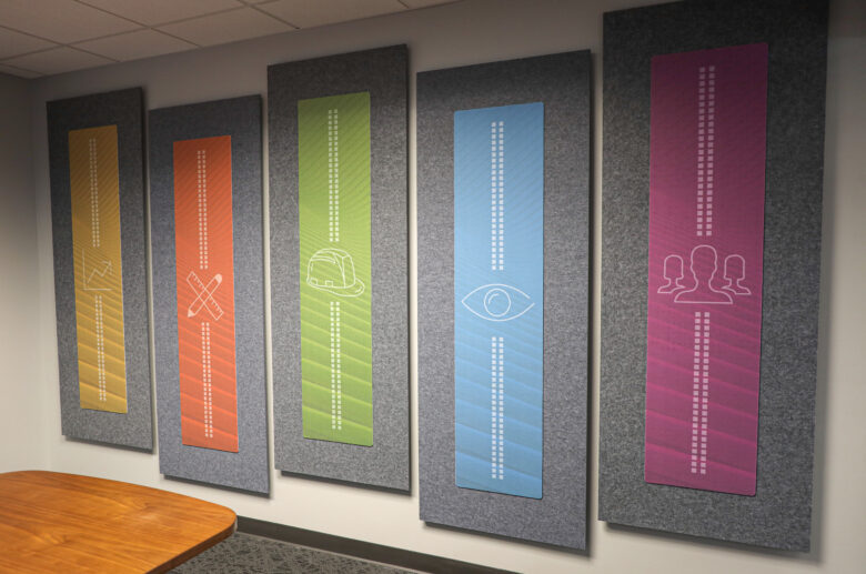 Custom Acoustic Panels for NewGround St. Louis by 12-Point SignWorks
