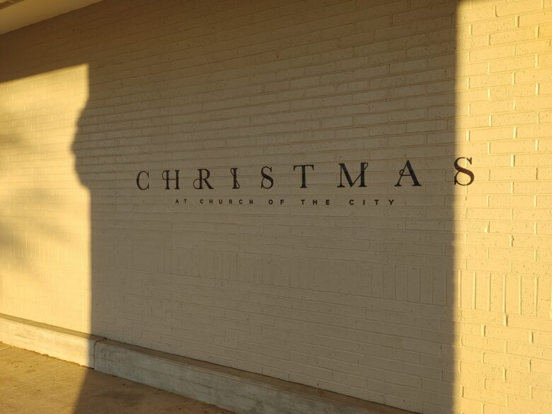 Holiday Wall Graphics for Church of the City by 12-Point SignWorks
