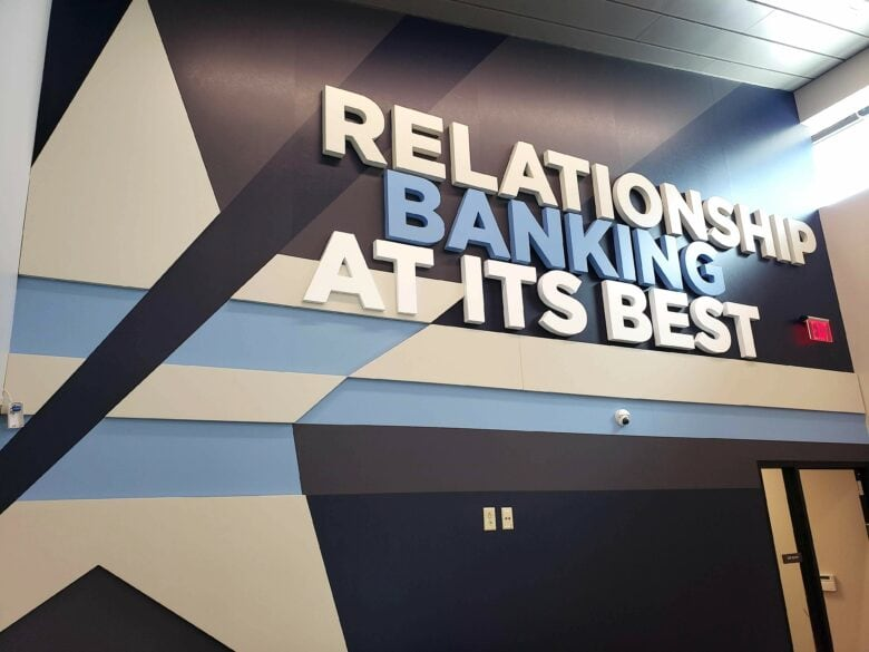 Dimensional Wall Graphic for Lamar National Bank in Celina,TX