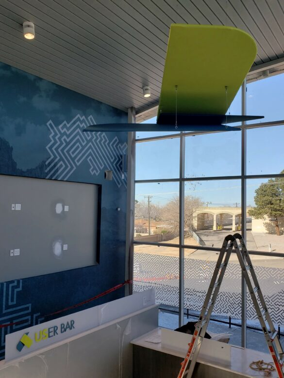 Hanging Abstract Structure for U.S. Eagle Federal Credit Union/ 12-Point SignWorks