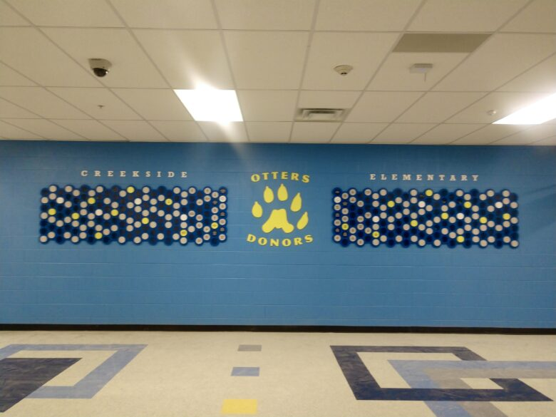 Donor Display for Creekside Elementary in Franklin, TN