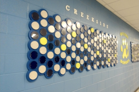 Donor Legacy Wall Display for Creekside Elementary in Franklin