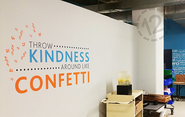 Experiential Design / Wall Graphic for Loews Hotel/ 12-Point SignWorks