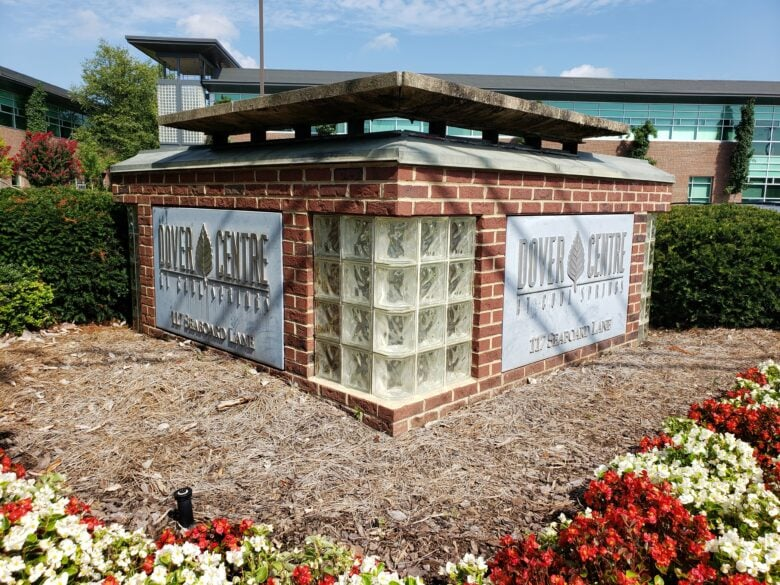 Previous Design of The Dover Centre's Monument Signs - Cool Springs/ Franklin