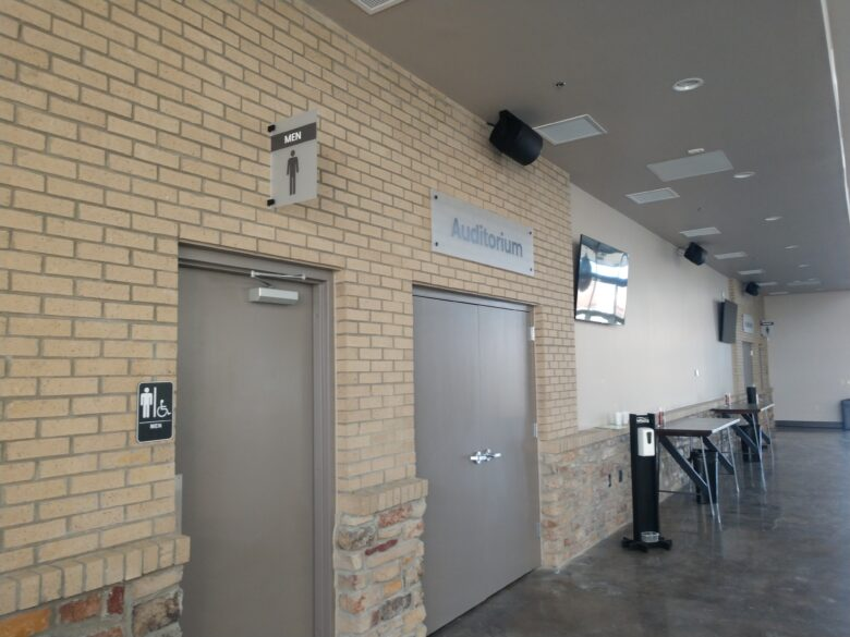 Restroom Signage/ Directional Signage for WellSpring Christian Church