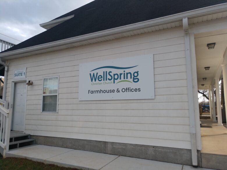 Custom Signage for WellSpring Christian Church Farmhouse