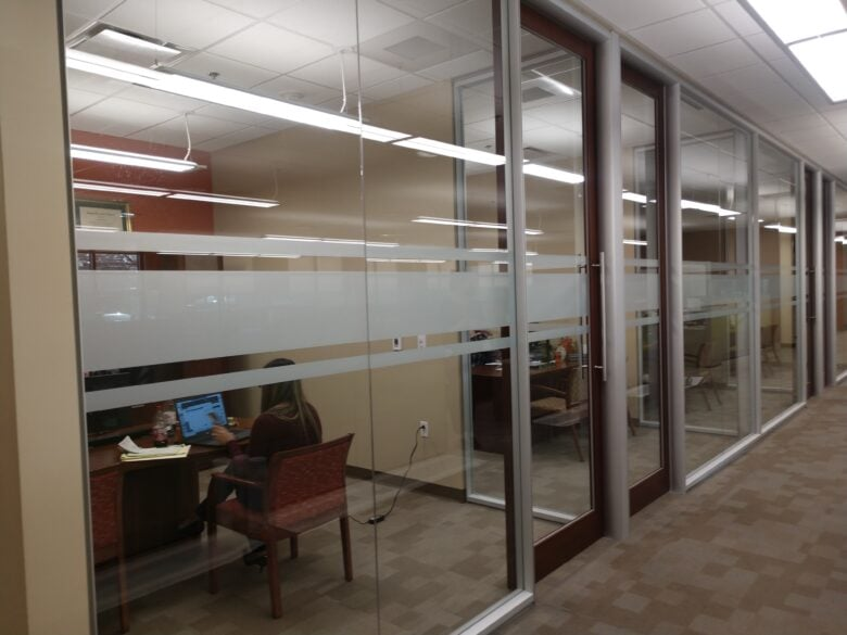 Frosted Privacy Vinyl for Education First Federal Credit Union- NewGround