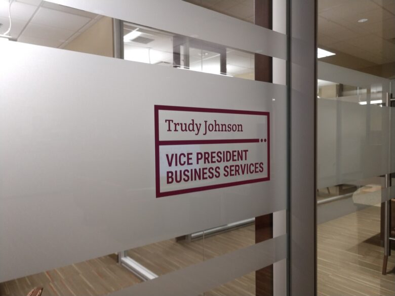 Frost Privacy Vinyl/ Window Graphics for Education First Federal Credit Union - NewGround
