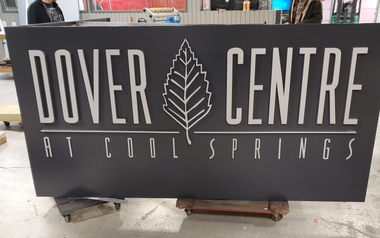 Custom Metal Monument Signs/ Architectural DIsplay for Dover Centre at Cool Springs