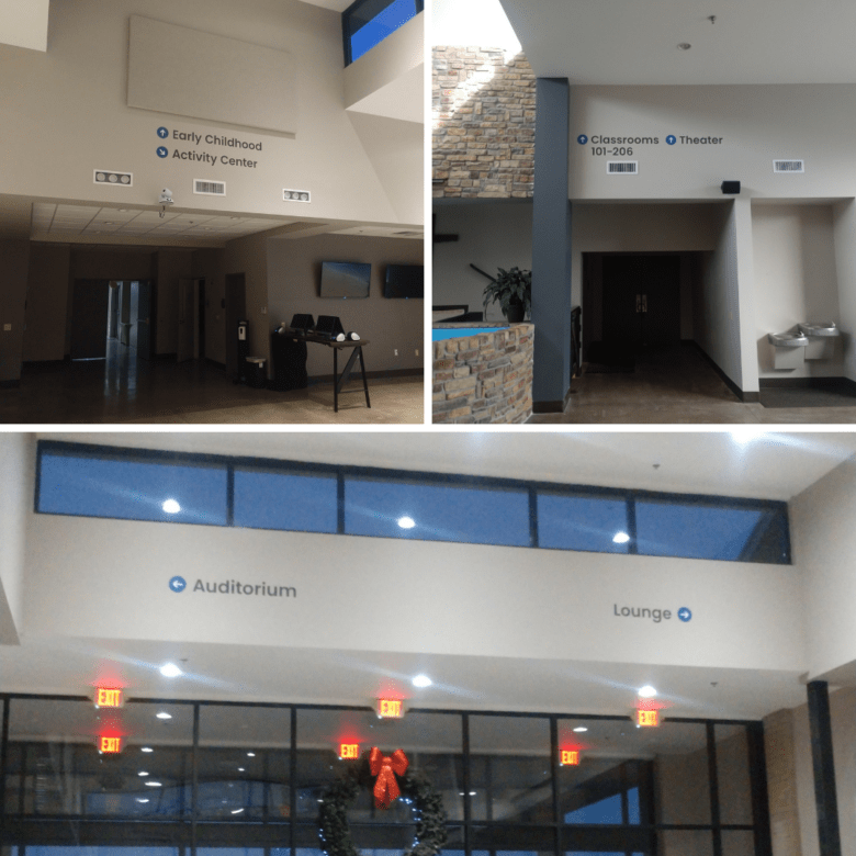Branding and Directional Signage for WellSpring Christian Church