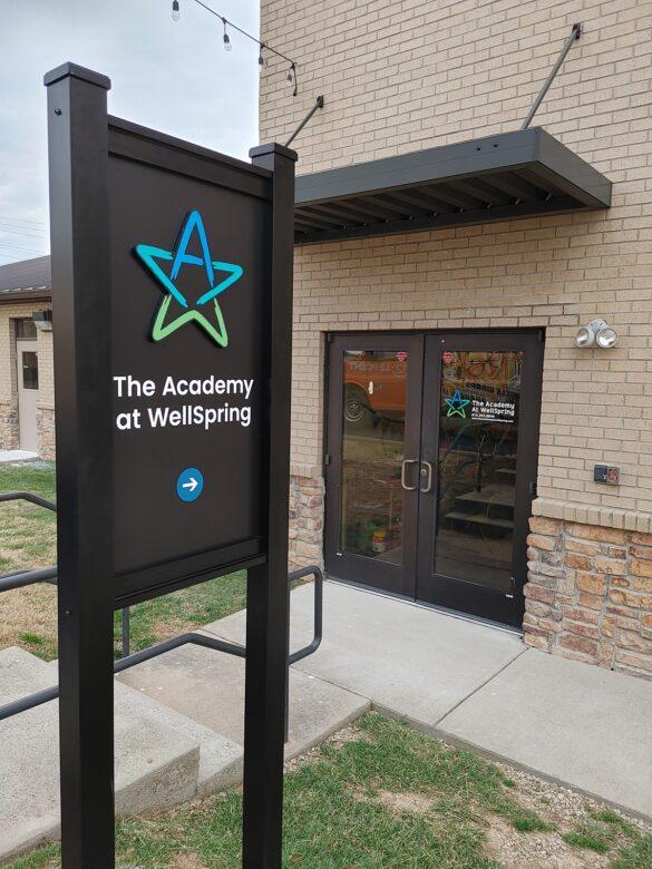 Custom Entrance Sign & Dimensional Logo for WellSpring Christian Church