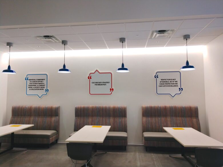 Experiential Graphics - Wall Graphics for ICEE Inc. Social Hub at their Headquarters