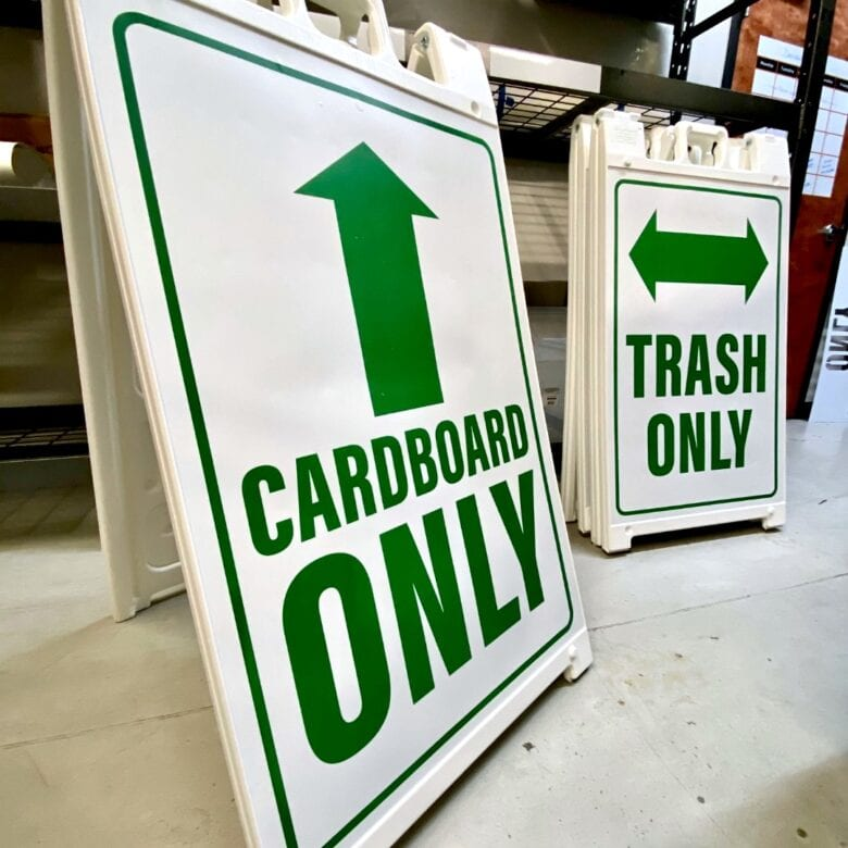 A-Frames for Williamson County Solid Waste Department/ Outdoor Signage/ 12-Point SignWorks