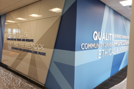 21254 - Dimensional Wall Mural for Fort Sill Federal Credit Union/ Experiential Branding Project With NewGround/ 12-Point SignWorks/ Lawton Oklahoma