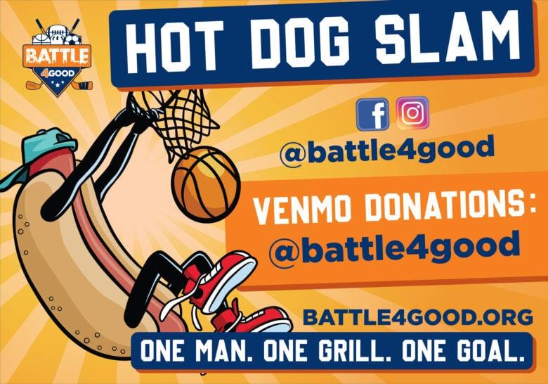 Proof Design of a Custom Banner we installed for Hot Dog Slam/ 12-Point SIgnWorks