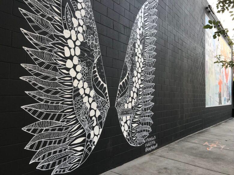 Butterfly Wing Mural in Nashville TN/ Artist Kelsey Montague