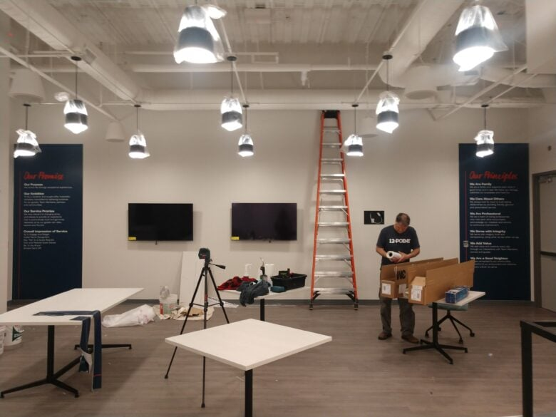 Our 12-Point Team Member Installing Custom Branded Wall Graphics for Loews Hotel