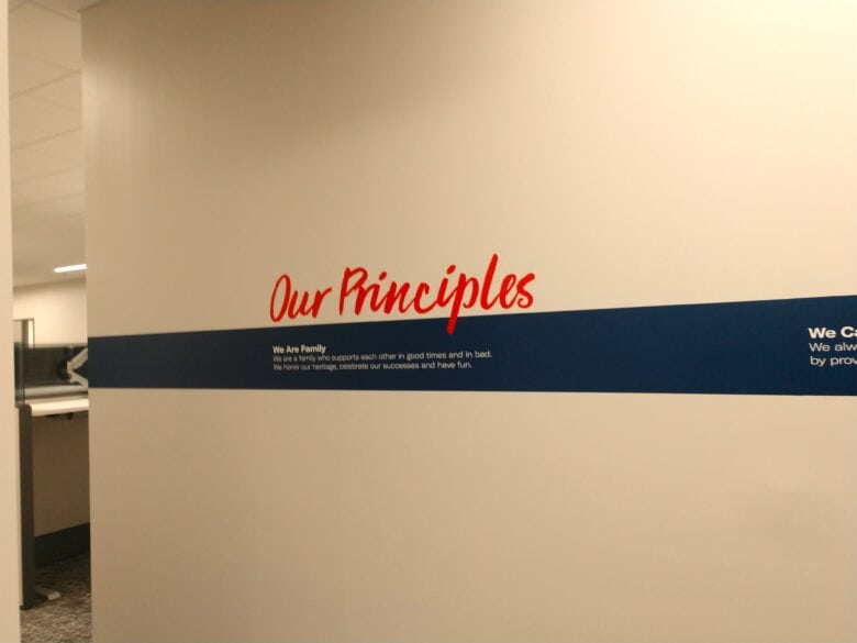 Custom Branded Wall Graphic for Loews Hotel/ Franklin/ 12-Point SignWorks