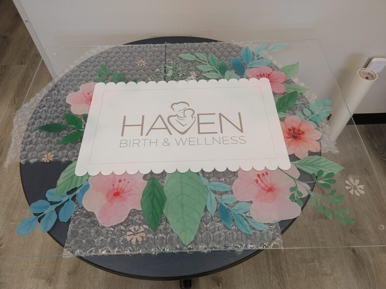 Custom Lobby Sign for Haven Birth & Wellness/ 12-Point SignWorks
