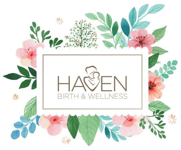 Custom Lobby Logo Graphic for Haven Birth & Wellness