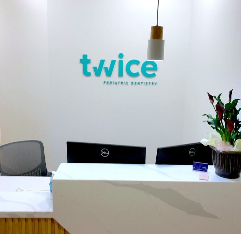 Dimensional Lobby Logo Sign for Twice Pediatric Dentistry / Brentwood/ 12-Point SignWorks