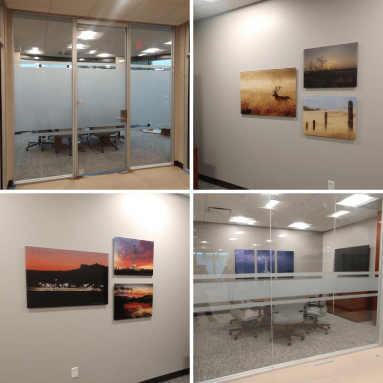 Custom Wall art & Privacy Vinyl/ West Texas National Bank/ NewGround/ 12-Point SignWorks