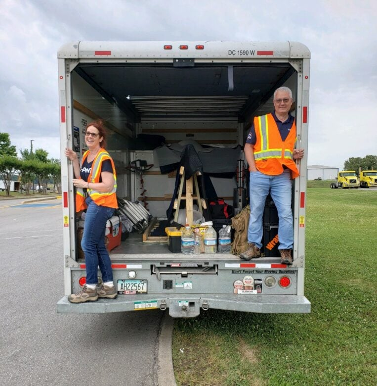 Natale and Patrick Owings on Job Site/ 12-Point SignWorks New Ownership