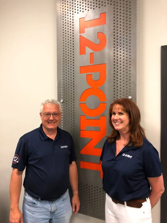 Natalie and Patrick Owings/ 12-Point SignWorks New Ownership