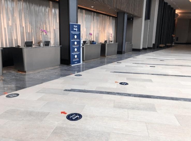 wayfinding floor signage