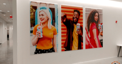 icee experiential graphic